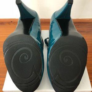 Gabriella Rocha Shoes - Gabrielle Rocha Teal T-Strap Heels sz 9.5